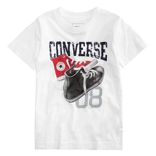 "Boys 4-7 Converse Mix Match Shoes ""08"" Graphic Tee"