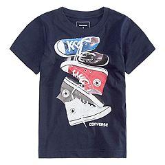Boys 4-7 Converse Stacked Chucks Graphic Tee