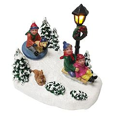 St. Nicholas Square® Village Children Sledding