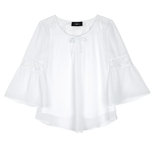 Girls 7-16 IZ Amy Byer Lace Bell Sleeve Top