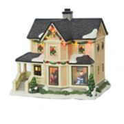 St. Nicholas Square® Village Decorating The Tree Grandma's House