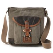 The Same Direction Tapa Two-Tone Canvas Crossbody Bag