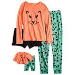 Girls 5-16 & Plus Size SO® Top, Pants & Shorts Pajama Set & Doll Pajama Set
