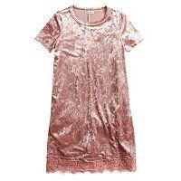 Girls 7-16 Fire Marble Shirt Dress