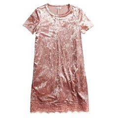 Girls 7-16 Fire Marble Shirt Dress