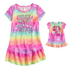 Girls 4-14 & Plus Size SO® Ruffled Dorm Nightgown & Doll Nightgown Set