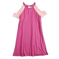 Girls 7-16 Fire Cold Shoulder Baseball Dress