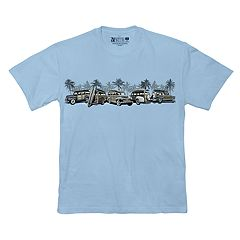 Men's Newport Blue Vintage Vehicle Graphic Tee
