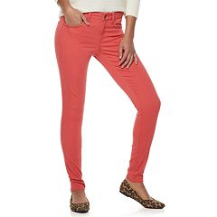 Juniors' SO® Color Low Rise Twill Leggings