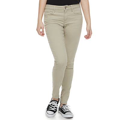 Juniors' SO® Color Low Rise Twill Jeggings