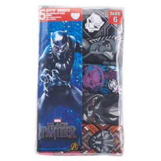 Boys 4-9 Black Panther 5-Pack Boxer Briefs