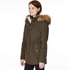 Women's Halitech Faux-Fur Hooded Anorak Microfiber Parka