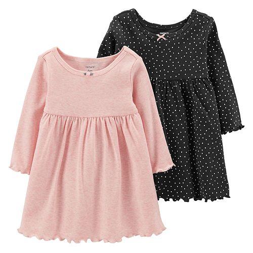 Baby Girl Carter's 2-Pack Polka-Dot & Solid Dresses