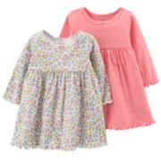 Baby Girl Carter's 2-Pack Solid & Floral Dresses