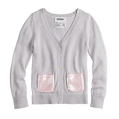 Girls 4-12 SONOMA Goods for Life™ Sequined Cardigan Sweater