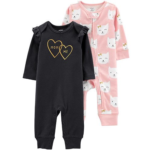 Baby Girl Carter's 2-Pack Graphic & Print Coveralls