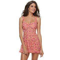Lunaire Floral Lace Babydoll & Panty Lingerie Set 43153K