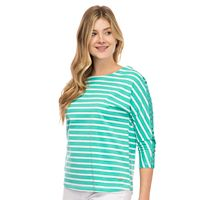 Women's IZOD Lace-Trim Boatneck Tee