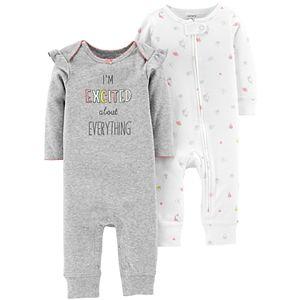 49aef7b6dd56 Baby Girl Carter s Striped Unicorn Jumpsuit   Socks Set