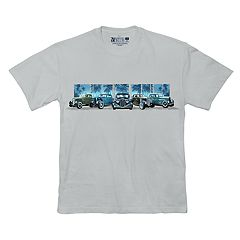 Big & Tall Newport Blue Vintage Vehicle Graphic Tee