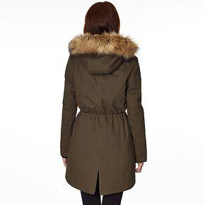 Women's Halitech Faux-Fur Hooded Anorak Cotton Parka