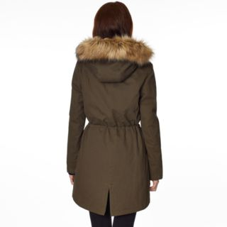 Women's Halitech Faux-Fur Hooded Anorak Cotton Parka