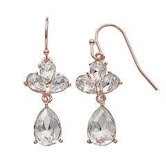 LC Lauren Conrad Simulated Crystal Nickel Free Teardrop Earrings