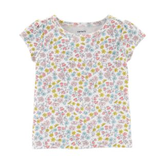 Baby Girl Carter's Floral Tee & Gauze Jumpsuit Set
