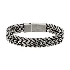 1913 Men's Stainless Steel Woven Bracelet