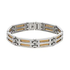 Men's 1913 Two Tone Stainless Steel Cable Bracelet