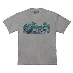 Big & Tall Newport Blue Tropical Graphic Tee