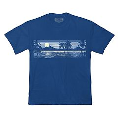 Big & Tall Newport Blue Tropical Graphic Tee