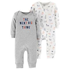Baby Boy Carter's 2-Pack Graphic & Animal Print Coveralls