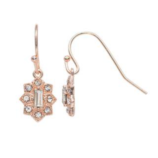 LC Lauren Conrad Nickel Free Milgrain Star Drop Earrings