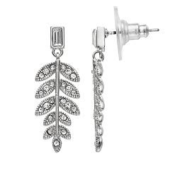 LC Lauren Conrad Nickel Free Leaf Drop Earrings