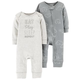 Baby Carter's 2-Pack Graphic & Cloud Print Coveralls