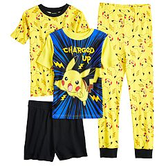Boys 4-10 Pokemon Pikachu 4 pc Pajama Set