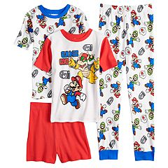 Boys 4-10 Super Mario Bros. 4-Piece Pajama Set