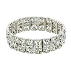 Simulated Crystal Textured Stretch Bracelet