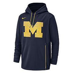 Men's Nike Michigan Wolverines Therma Pullover Hoodie