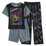 Boys 4-10 Minecraft 3 pc Pajama Set