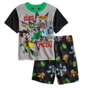 Boys 4-10 Teen Titans 2-Piece Pajama Set