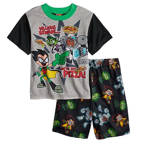 4b5bc9f9a1a9 Boys 4-10 Teen Titans 2-Piece Pajama Set