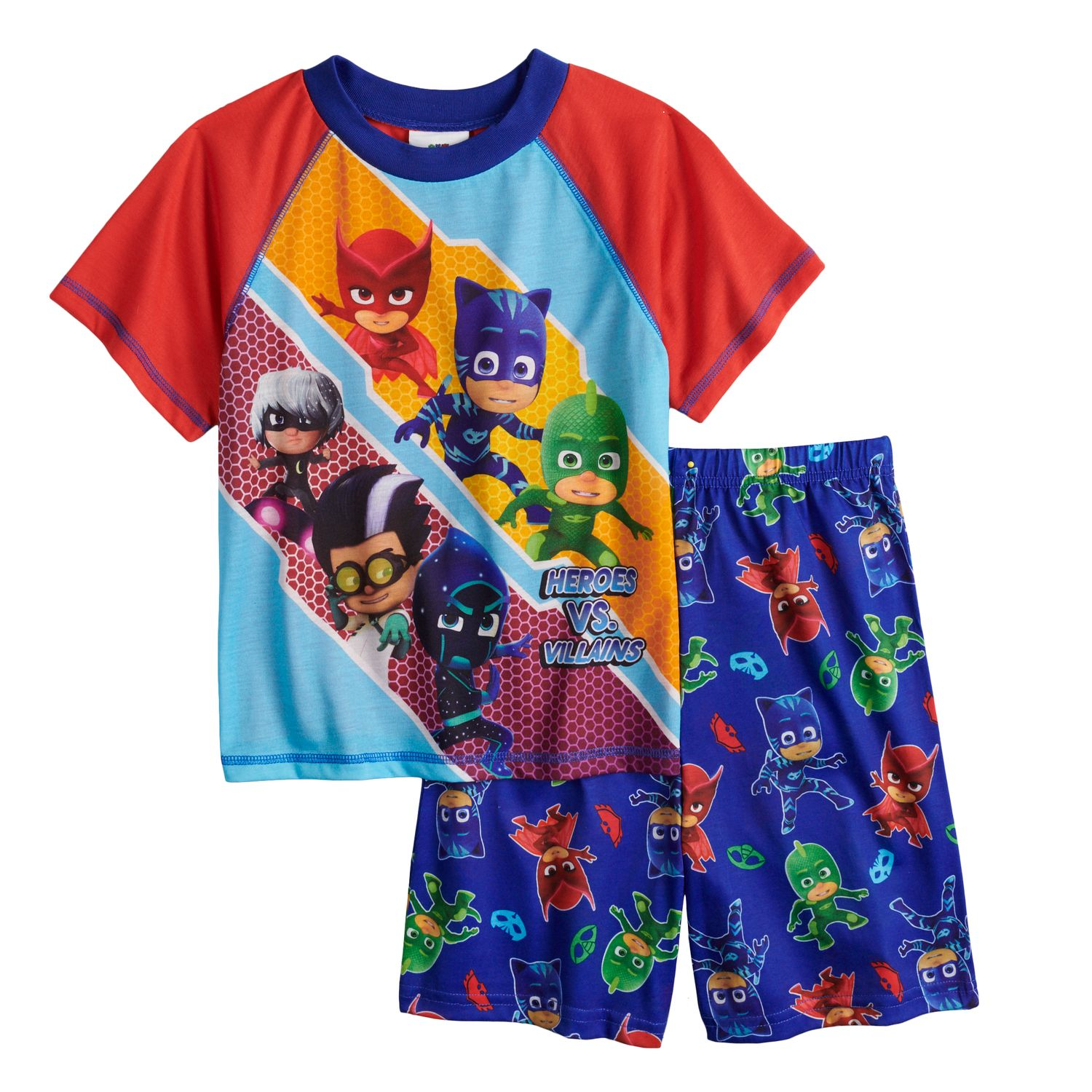 Boys 4 10 PJ Masks 2 Piece Pajama Set
