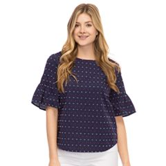 Women's IZOD Bell Sleeve Poplin Top