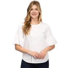 Women's IZOD Bell Sleeve Poplin Top