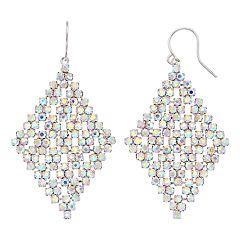 Simulated Crystal Kite Earrings