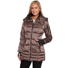 Women's Halitech Hooded Iridescent Puffer Jacket
