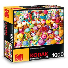 Kodak Premium Puzzles Variety of Colorful Ice Cream 1000-Piece Puzzle