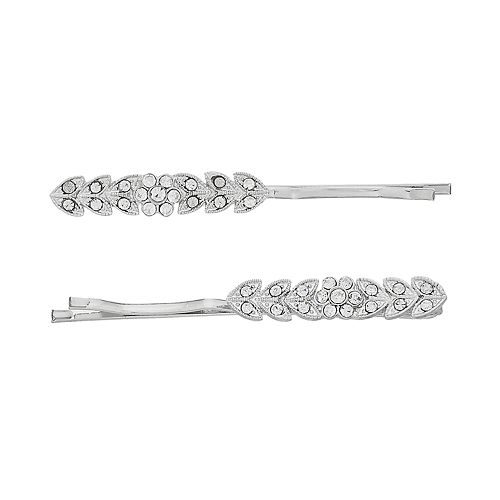 LC Lauren Conrad Pave Leaf Bobby Pin Set